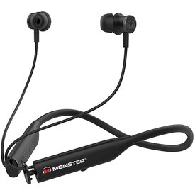 Monster Flex Active Noise Cancelling Bluetooth HeadphoneswMagnetic Tips Black