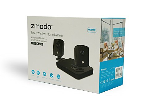 Zmodo 720p Hd Smart Wireless Home Kit With 2 Indoor Wireless Cameras And  500gb Har ZM-KW1002-I-500GB