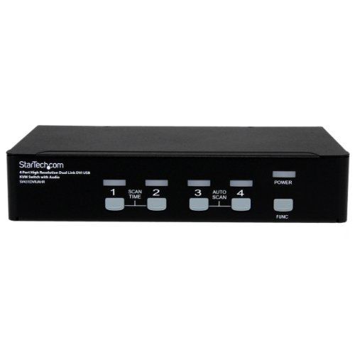 4 Port 1080p Kvm Switch 2560x1600 Dvi Usb W Audio